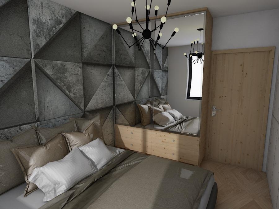 Sypialnia w mieszkaniu w Szczecinie, 2017