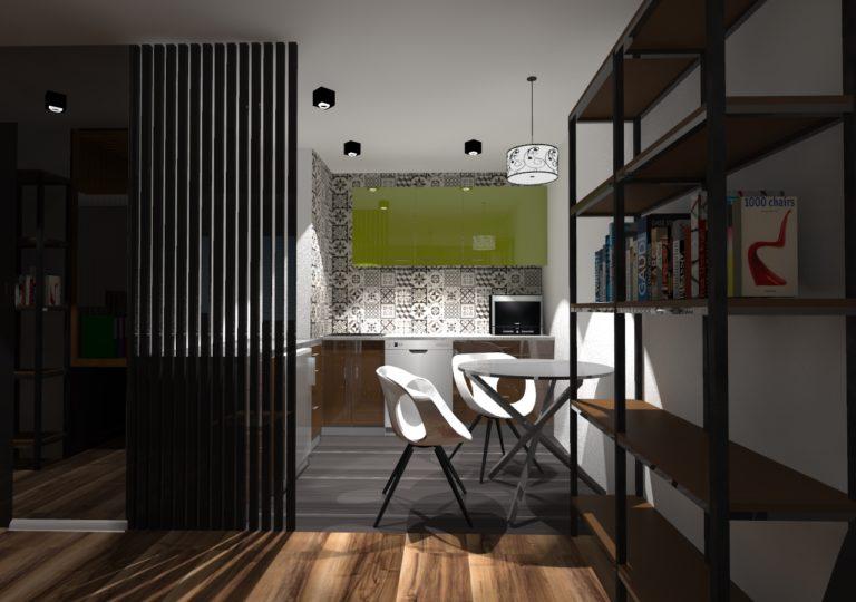 Kuchnia w małym biurze księgowym, Szczecin, 2016
