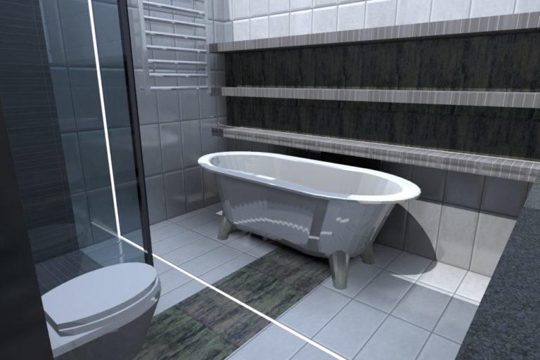 Łazienka w domu jednorodzinnym, Mierzyn (2015)