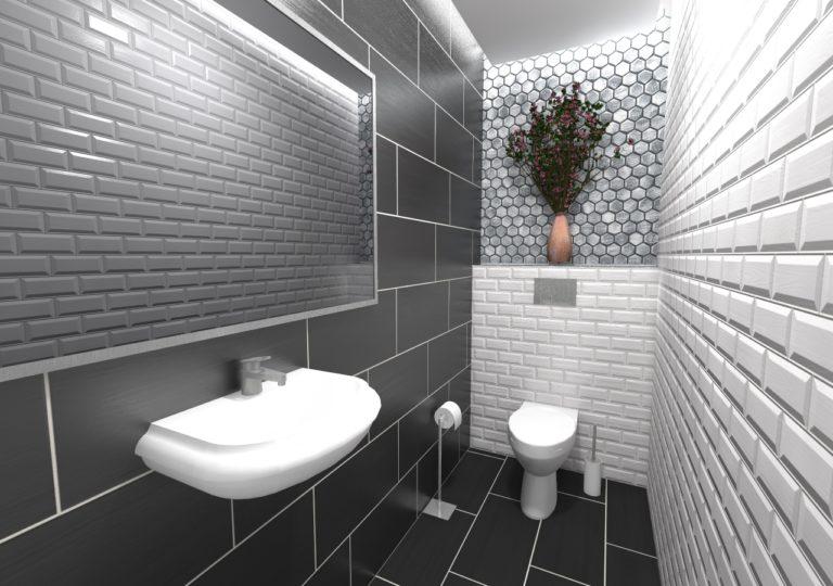 WC w mieszkaniu w Szczecinie, Żelechowa, 2018